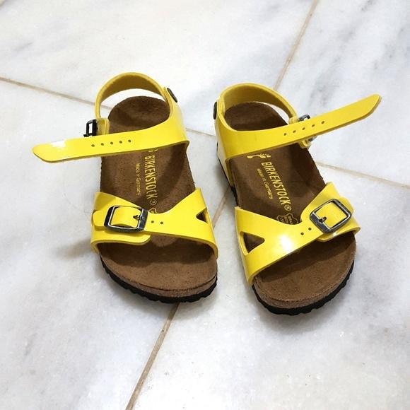 25887e603e9 Birkenstock Other - 🍒NWOT Yellow BirkenStock sandals 27